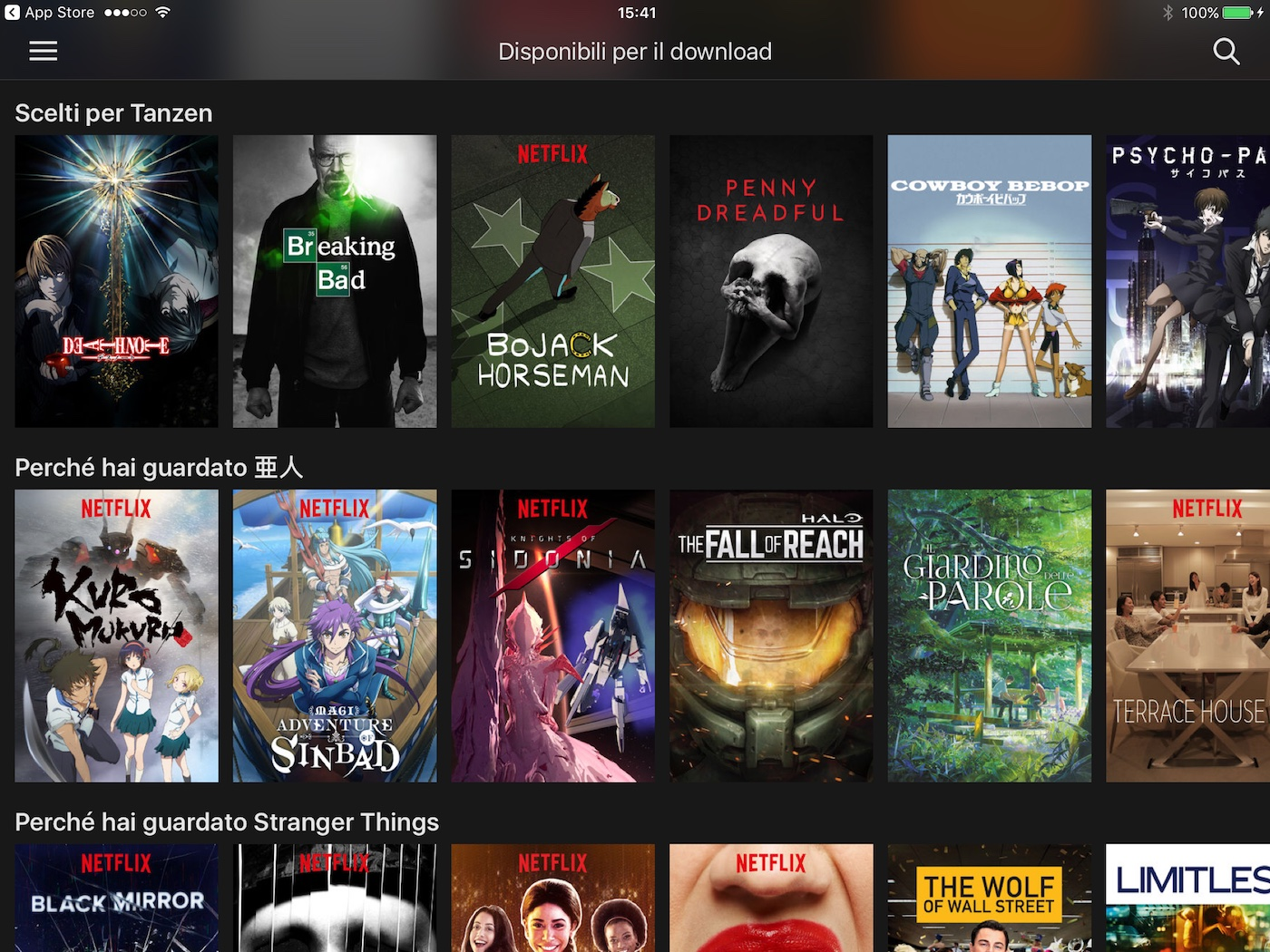 Netflix Offline, l'ho provato